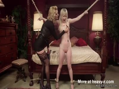 Tied Blonde Anal Toyed