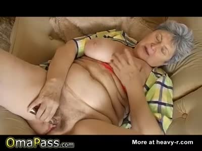 Horny Grandma Plays With Cunt