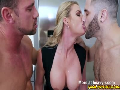 Phoenix double team by two loaded cocks