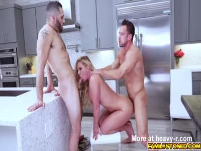 Porn Slut Gets Banged In The Kitchen