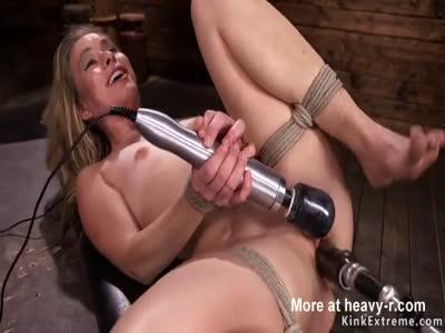Orgasm For Hogtied Blonde