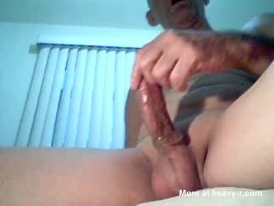 Amateur men masturbating to orgasm on home video