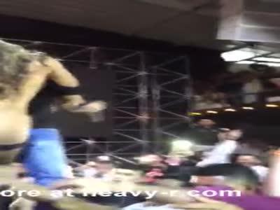 Stripper Groped By Crowd