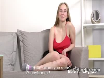 Cute blonde Lisa Tutoha shows her natural tits and big ass