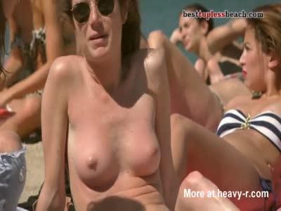 Sunburned Topless Babe