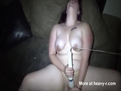 Slutty Chubby Teen Masturbating