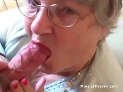 Granny Gets A Faceful Of Cum