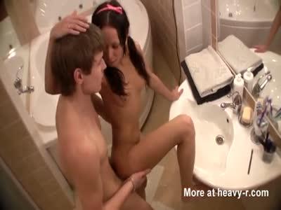 Hot Bathroom Fuck