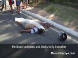 Motorcycle accident in Brazil