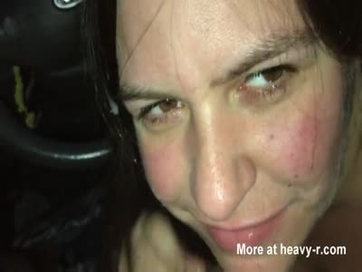Messy Facial After Blowjob In Car