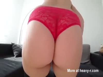 Sex in stockings and through pink panties