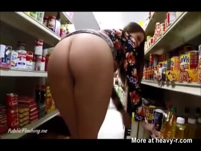 Big Tits Slut Flashes In Store