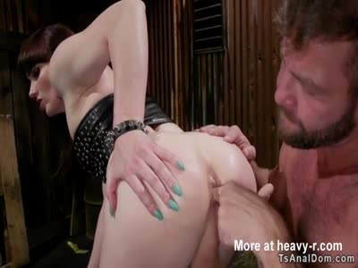 Tranny biker anal toys muscled male