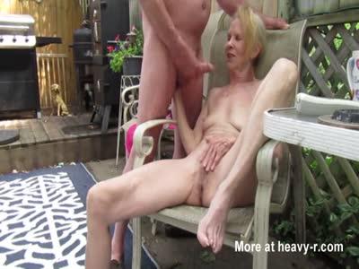 Granny Cummed On Tits