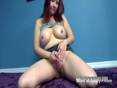 Busty Mature Toying Her Twat