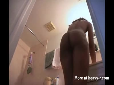 Ebony Sister In Bathroom