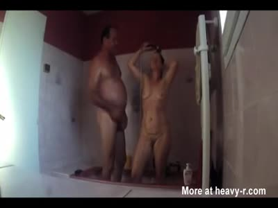 Mom And Dad In Shower