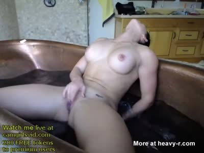Masturbating In Hot Tub