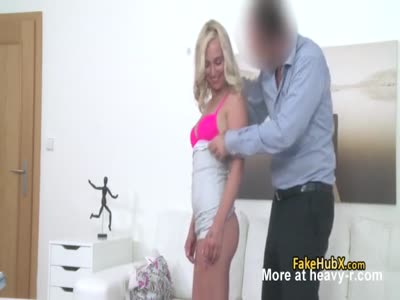 Pink lingerie blonde enjoy good fuck