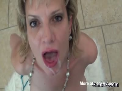 Mature Cummed In Mouth