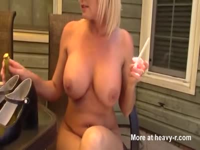 Smoking Busty Wife Gets Creampied