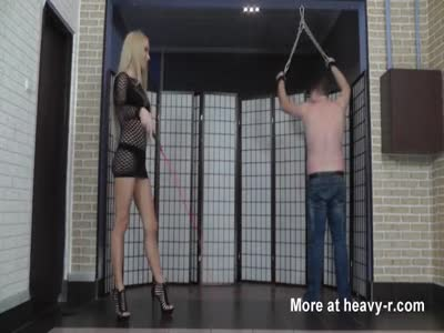Whipped by hot young cruel blonde mistress