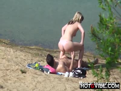 Caught Couple Banging On Beach