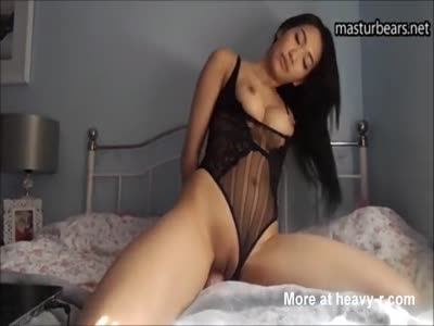 Hot Asian Toying With Big Dildo