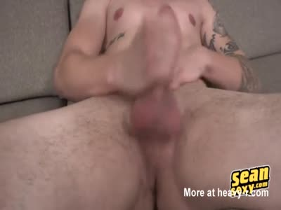 Charming Hunk Cort Jerk Off On the Couch