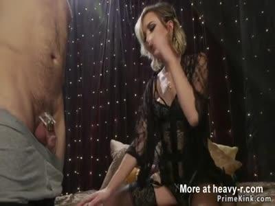Hot blonde babe anal fucks guy