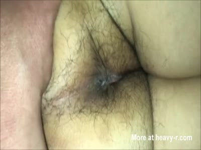 Spreading Her Hairy Asshole