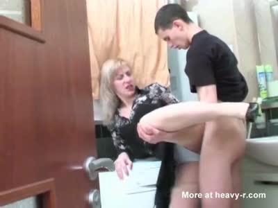 Young Guy Seduces Mature Blonde