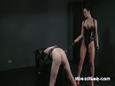 Busty Mistress Flogging Bound Slave