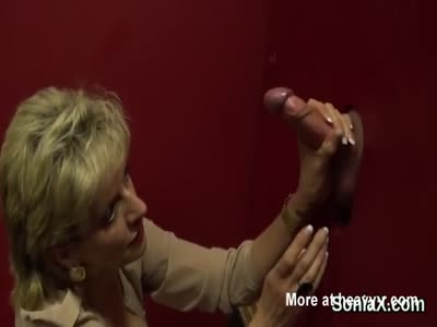 Glory Hole Handjob