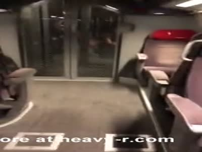 Busted Getting Blowjob In Train