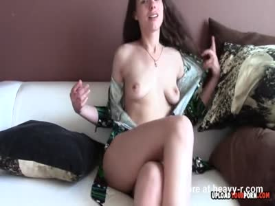 Cute Canella gets naked while parents are away