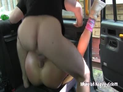 Busty Blonde Analed In Cab
