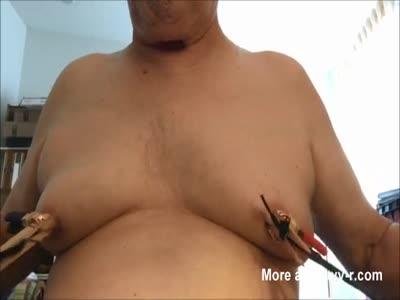 nipple torture selfie