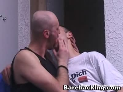 Gay partner enjoys sensual licking and barebacking