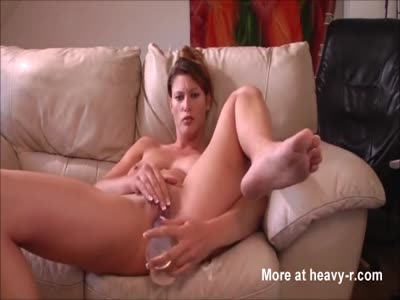 Slutty MILF Masturbating With Dildo