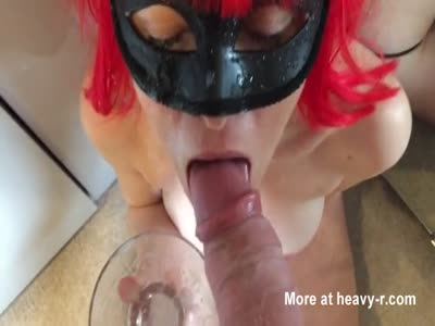 Huge Cumshot For Redhead Cum Slut