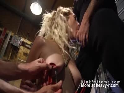 Masters fucks blonde in rope bondage