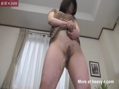 Girl sits on anal dildo
