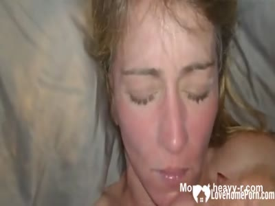 Big Facial For Wife