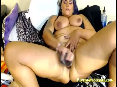 MILF With Big Tits Plays Dirty