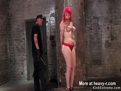 Electro Shocks For Busty Redhead