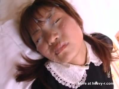 Japanese Doll Taking Big Facial