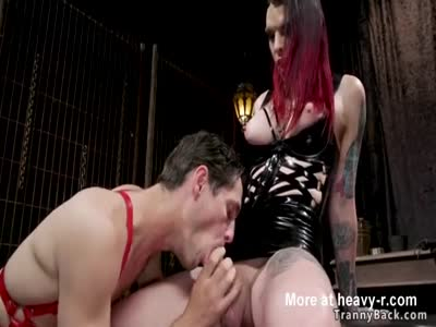 Alt shemale domme anal fucks slave