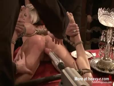 Extreme BDSM At Dinner Party