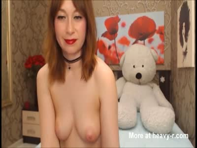Redhead With Glasses and Natural Big Tits Cam Game